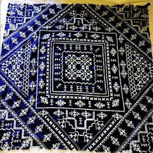 Zara Wool Blend Blanket Wrap Shawl Scarf